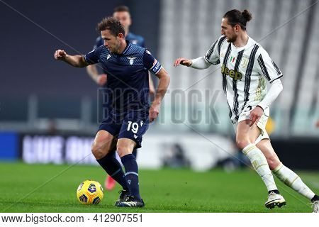 Torino, 06th March 2021. Senad Lulic Of Ss Lazio  During The Serie A Match Between Juventus Fc And S