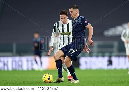 Torino, 06th March 2021. Adam Marusic Of Ss Lazio  During The Serie A Match Between Juventus Fc And
