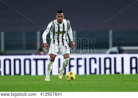 Torino, 06th March 2021. Alex Sandro Of Juventus Fc  During The Serie A Match Between Juventus Fc An