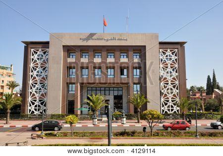 Bank Al Maghrib In Marrakech, Morocco
