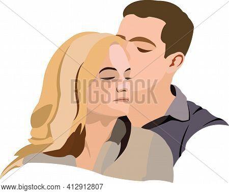 Couple Of Lovers Embraced Couple Of Lovers Embraced