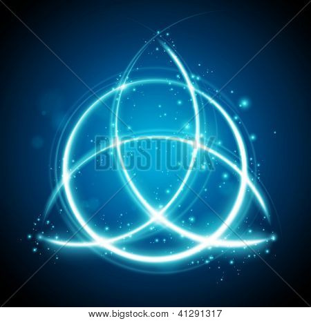 abstract background - magic celtic knot shape sign