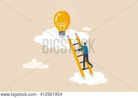 Creative Idea, Inspiration Or Imagination To Create New Innovative Work, Opportunity Or Wisdom Conce