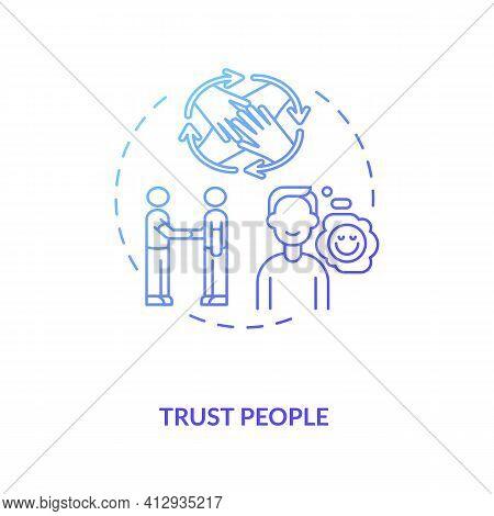 Trust People Concept Icon. Inspiring People Idea Thin Line Illustration. Leadership And Mentorship.