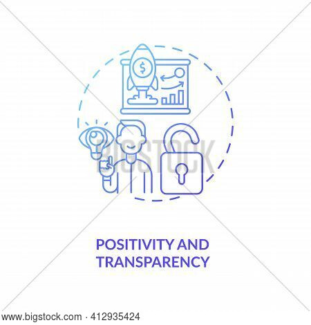 Positivity And Transparency Concept Icon. Inspiring For Effective Work Idea Thin Line Illustration.