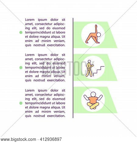 Yoga Exercises Concept Icon With Text. Meditation And Stretching. Aerobics Workout. Healthy Lifestyl