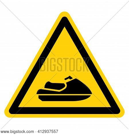 Jetski Symbol Sign,vector Illustration, Isolate On White Background Label. Eps10
