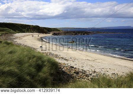 Duncansby (scotland), Uk - August 03, 2018: The Beach Near Duncansby Head, Scotland, Highlands, Unit