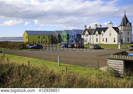 John O'groats (scotland), Uk - August 04, 2018: John O'groats Area, Caithness, Scotland, Highlands,