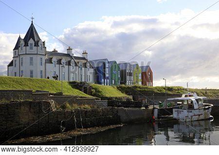 John O'groats (scotland), Uk - August 04, 2018: The Inn At John O'groats, Caithness, Scotland, Highl