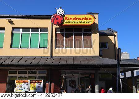 Swietochlowice, Poland - April 7, 2018: Biedronka Supermarket In Swietochlowice, Poland. Biedronka G