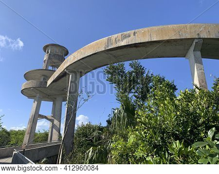 Observation Tower At Shark Valley In Everglades National Park.
