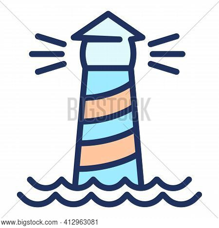 Lighthouse Icon. Outline Lighthouse Vector Icon For Web Design Isolated On White Background