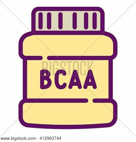Sport Nutrition Bcaa Icon. Outline Sport Nutrition Bcaa Vector Icon For Web Design Isolated On White
