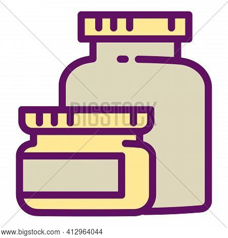 Sport Nutrition Jars Icon. Outline Sport Nutrition Jars Vector Icon For Web Design Isolated On White