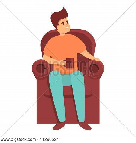Weekend Armchair Resting Icon. Cartoon Of Weekend Armchair Resting Vector Icon For Web Design Isolat