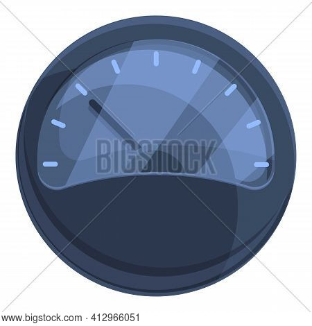 Car Gauge Icon. Cartoon Of Car Gauge Vector Icon For Web Design Isolated On White Background