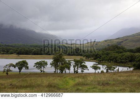 Loch Awel (scotland), Uk - August 15, 2018: Loch Awe, Scotland, United Kingdom
