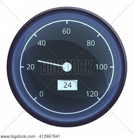 Car Old Dashboard Icon. Cartoon Of Car Old Dashboard Vector Icon For Web Design Isolated On White Ba