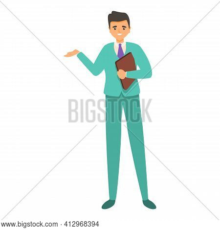 Business Interaction Icon. Cartoon Of Business Interaction Vector Icon For Web Design Isolated On Wh