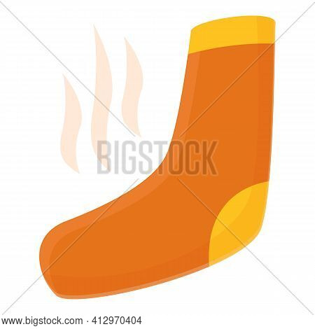Smelling Sock Icon. Cartoon Of Smelling Sock Vector Icon For Web Design Isolated On White Background