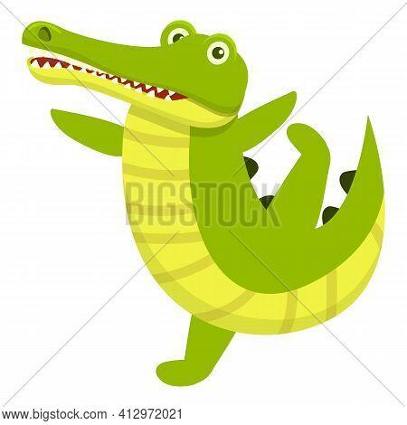 Crocodile Icon. Cartoon Of Crocodile Vector Icon For Web Design Isolated On White Background