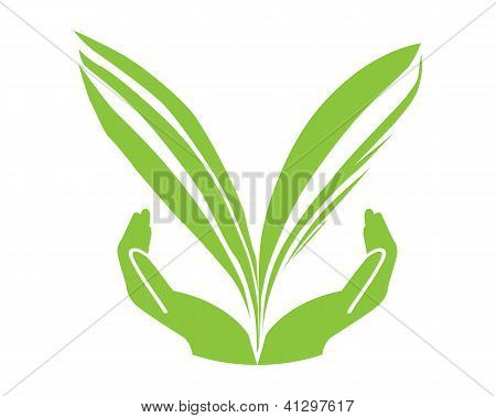 Think Green Concept Vector