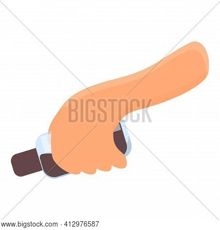 Hands Preparing Food Icon. Cartoon Of Hands Preparing Food Vector Icon For Web Design Isolated On Wh