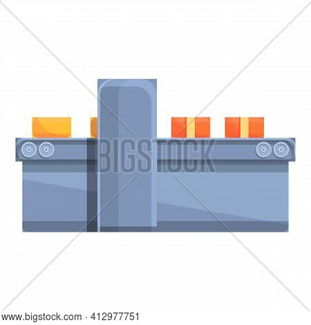 Packing Cheese Icon. Cartoon Of Packing Cheese Vector Icon For Web Design Isolated On White Backgrou