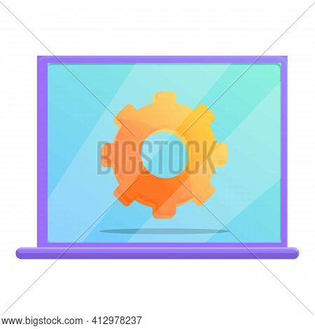 Marketing Mix Laptop Icon. Cartoon Of Marketing Mix Laptop Vector Icon For Web Design Isolated On Wh