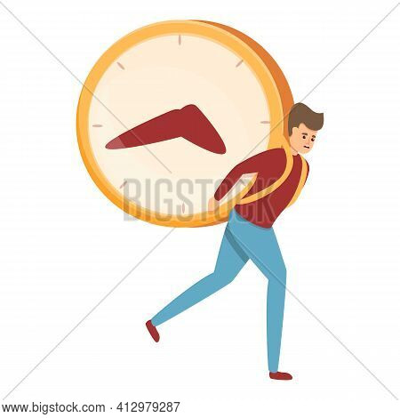School Time Management Icon. Cartoon Of School Time Management Vector Icon For Web Design Isolated O