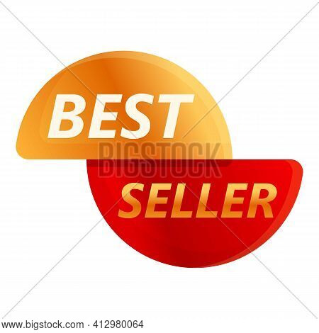 Best Seller Seal Icon. Cartoon Of Best Seller Seal Vector Icon For Web Design Isolated On White Back