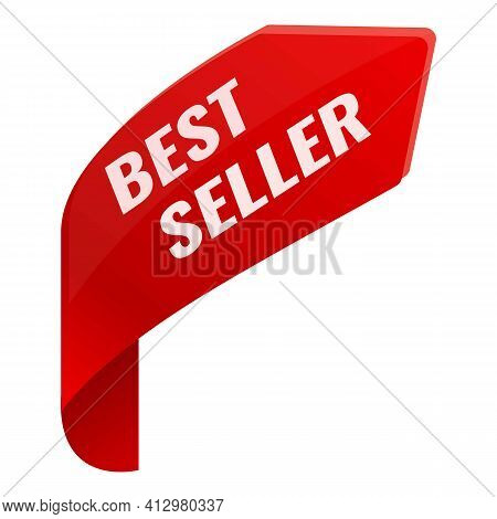 Best Seller Trophy Icon. Cartoon Of Best Seller Trophy Vector Icon For Web Design Isolated On White