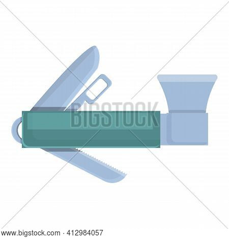 Multitool Axe Icon. Cartoon Of Multitool Axe Vector Icon For Web Design Isolated On White Background
