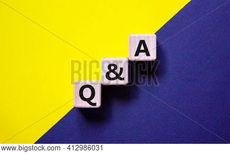 Q And A, Questions And Answers Symbol. Concept Words 'q And A Questions And Answers' On Wooden Cubes