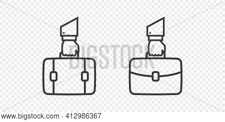 Suitcase Linear Style. Briefcase Icons Collection. Briefcases Modern Style. Business Icons. Vector I