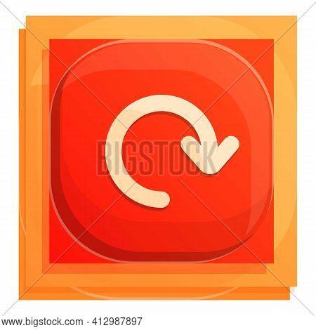 Refresh Interface Button Icon. Cartoon Of Refresh Interface Button Vector Icon For Web Design Isolat