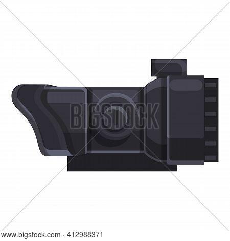 Sniper Telescopic Sight Icon. Cartoon Of Sniper Telescopic Sight Vector Icon For Web Design Isolated