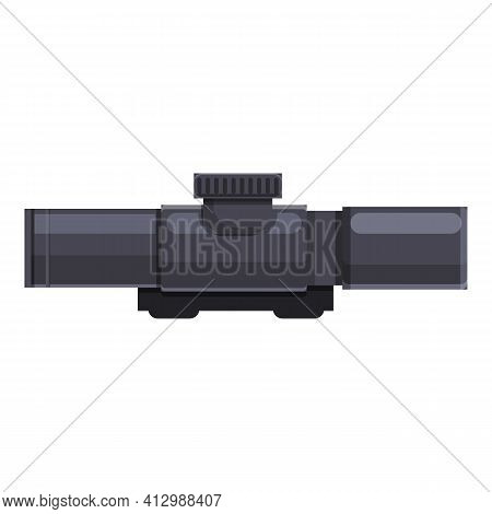 Telescopic Sight Target Icon. Cartoon Of Telescopic Sight Target Vector Icon For Web Design Isolated