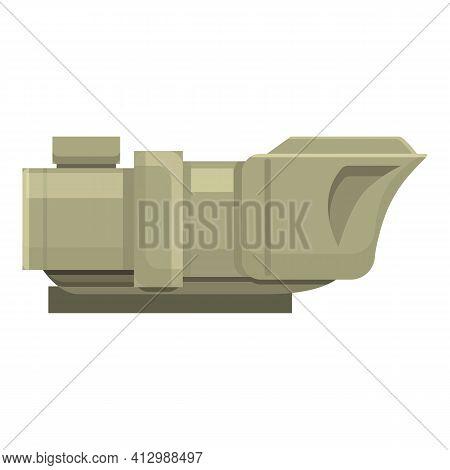 Tank Telescopic Icon. Cartoon Of Tank Telescopic Vector Icon For Web Design Isolated On White Backgr