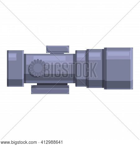 Reticle Scope Icon. Cartoon Of Reticle Scope Vector Icon For Web Design Isolated On White Background