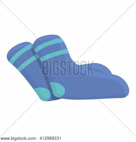 Kids Socks Donation Icon. Cartoon Of Kids Socks Donation Vector Icon For Web Design Isolated On Whit