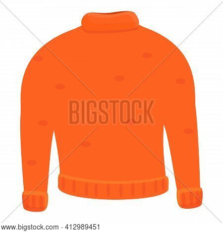 Donate Winter Sweater Icon. Cartoon Of Donate Winter Sweater Vector Icon For Web Design Isolated On