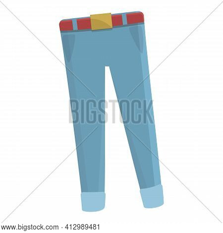 Jeans Donation Icon. Cartoon Of Jeans Donation Vector Icon For Web Design Isolated On White Backgrou