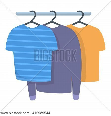 Old Wardrobe Clothes Icon. Cartoon Of Old Wardrobe Clothes Vector Icon For Web Design Isolated On Wh