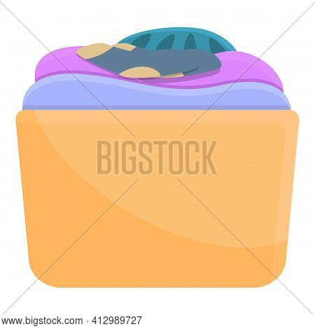 Second Hand Clothes Box Icon. Cartoon Of Second Hand Clothes Box Vector Icon For Web Design Isolated