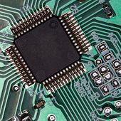 Stock photo:computer theme: an image of processor poster