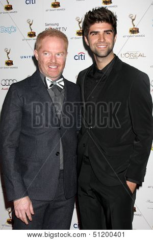 LOS ANGELES - SEP 20:  Jesse Tyler Ferguson, Justin Mikita at the Emmys Performers Nominee Reception at  Pacific Design Center on September 20, 2013 in West Hollywood, CA