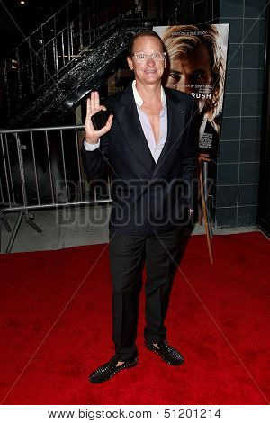 NEW YORK-SEP 18: Fashion expert Carson Kressley attends the Ferrari & The Cinema Society screening of 'Rush' at Chelsea Clearview Cinema on September 18, 2013 in New York City.
