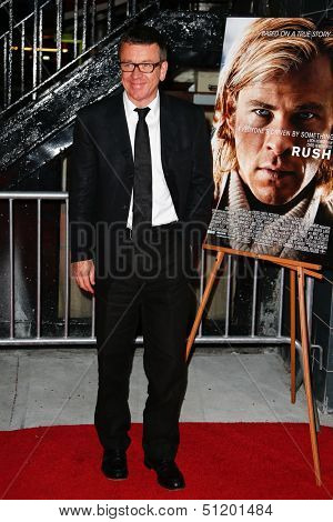 NEW YORK-SEP 18: Screenplay writer Peter Morgan attends the Ferrari & The Cinema Society screening of 'Rush' at Chelsea Clearview Cinema on September 18, 2013 in New York City.